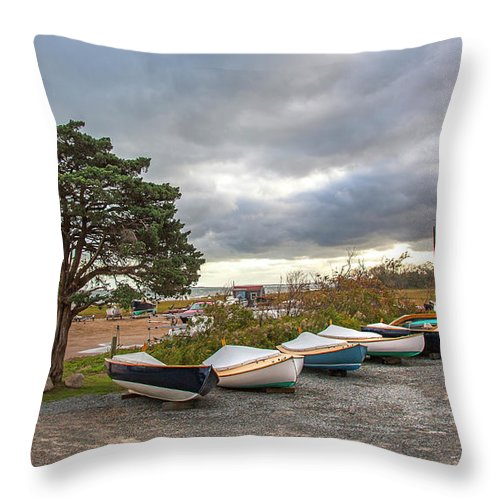 Barnstable Yacht Club Seasons Over - Throw Pillow