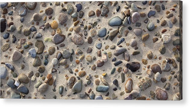 Sand And Beach Stones - Acrylic Print