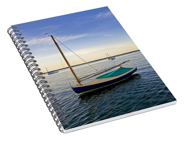 Fisher Cat In Barnstable Harbor - Spiral Notebook