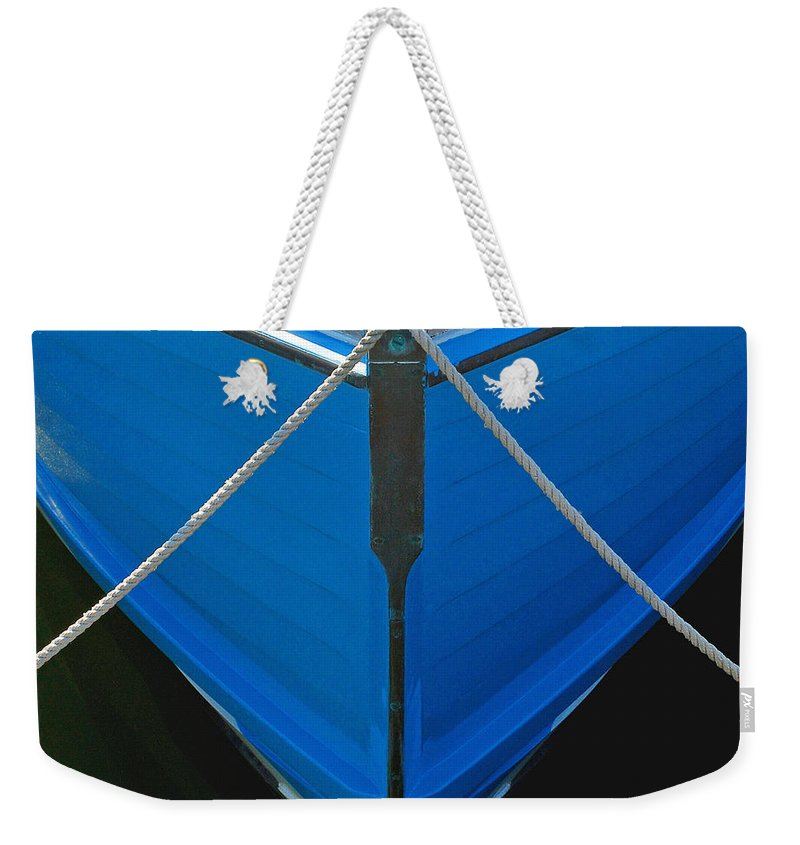 Vintage Old Blue Wooden Boat Bow - Weekender Tote Bag