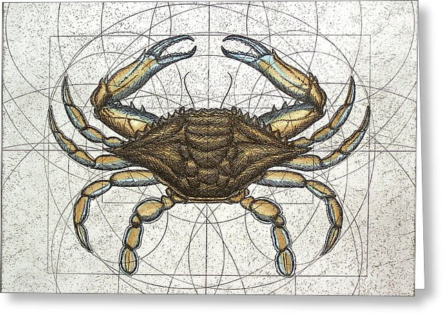 Blue Crab - Greeting Card