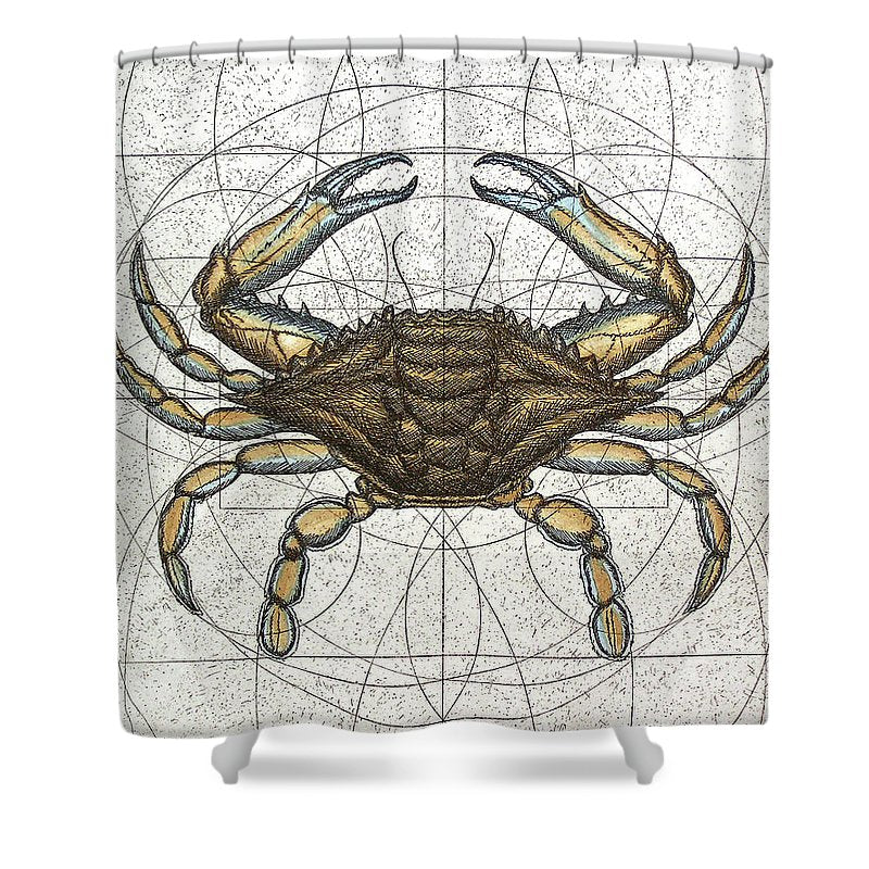 Blue Crab - Shower Curtain