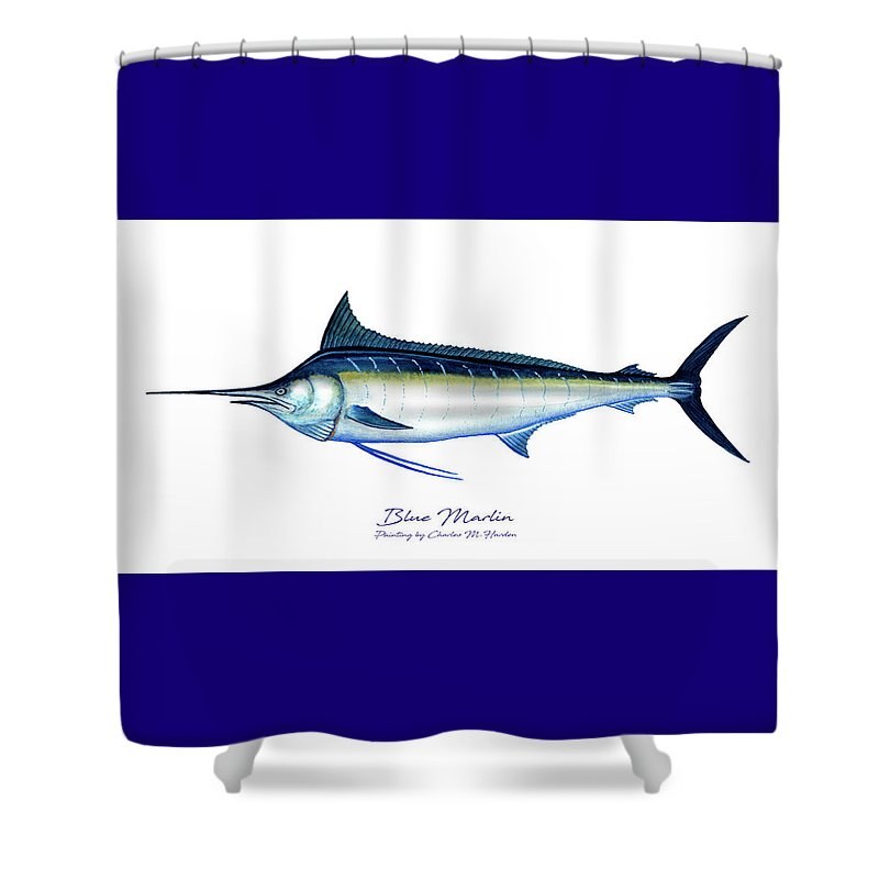 Blue Marlin - Shower Curtain