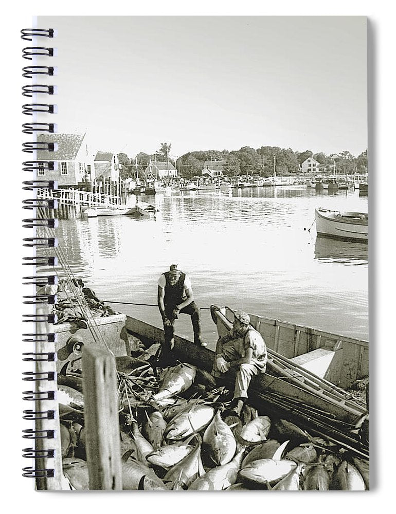 Bluefin Tuna At Barnstable Harbor - Spiral Notebook