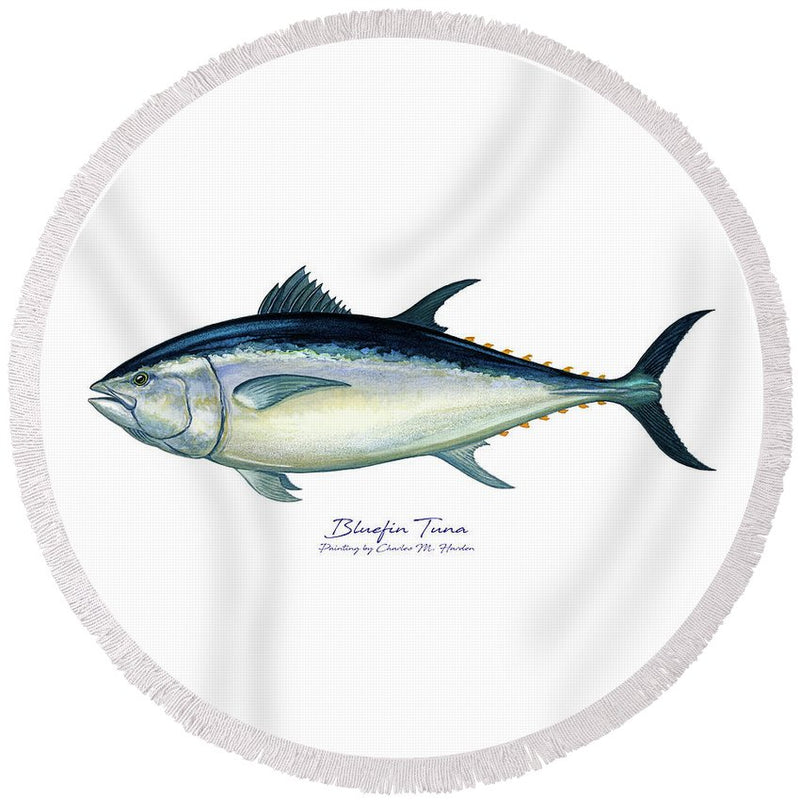 Bluefin Tuna - Round Beach Towel
