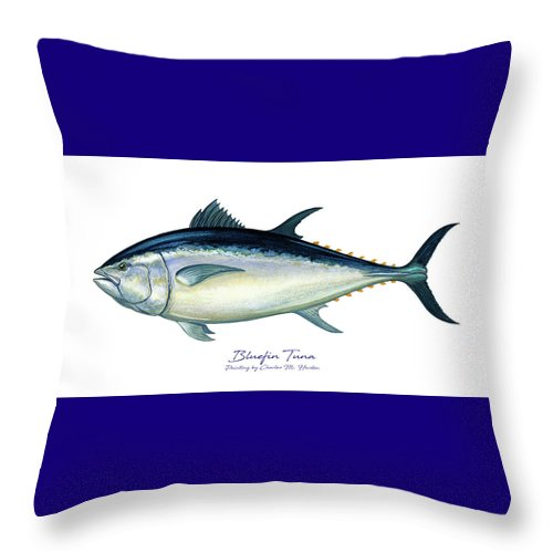 Bluefin Tuna - Throw Pillow