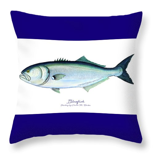 Bluefish - Throw Pillow