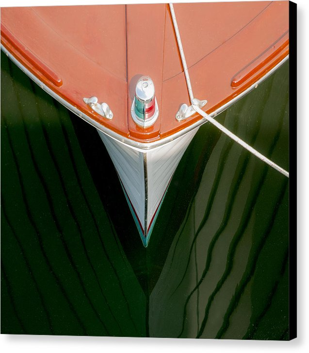 Vintage Boat Mirror Water Reflection - Canvas Print