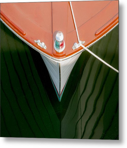 Vintage Boat Mirror Water Reflection - Metal Print