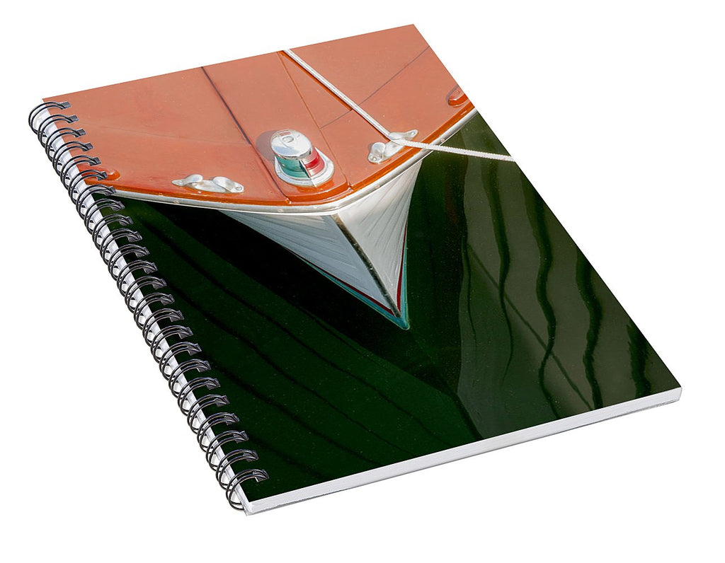 Vintage Boat Mirror Water Reflection - Spiral Notebook