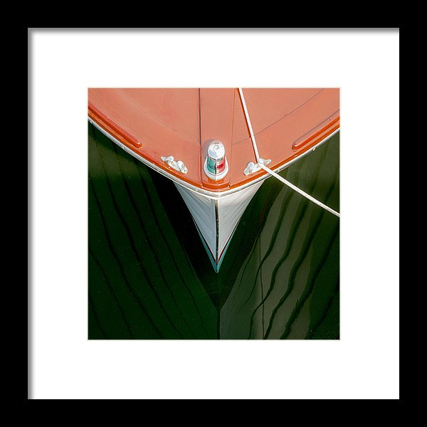 Vintage Boat Mirror Water Reflection - Framed Print