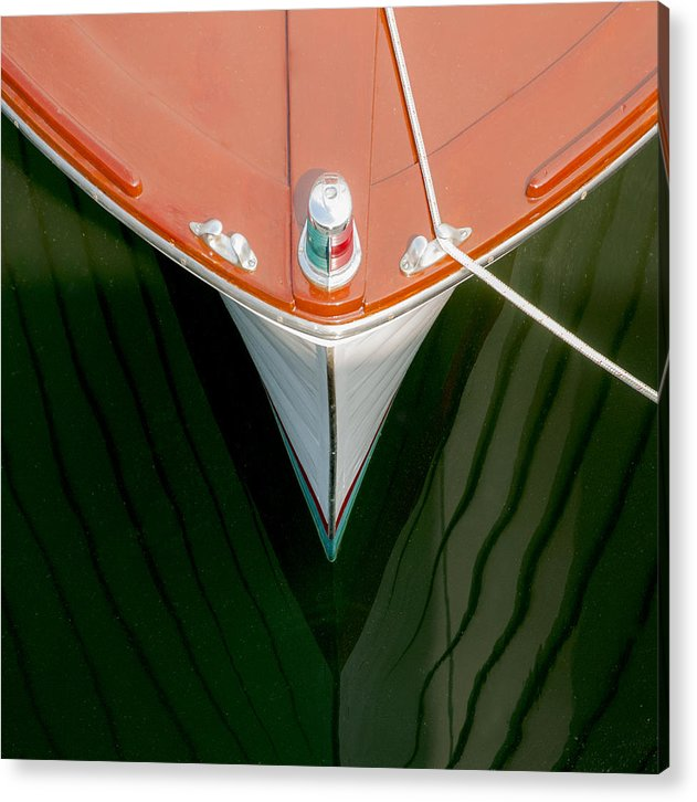 Vintage Boat Mirror Water Reflection - Acrylic Print