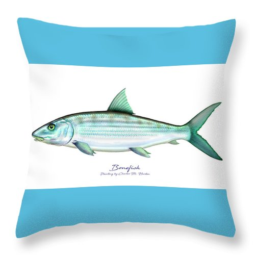 Bonefish - Throw Pillow