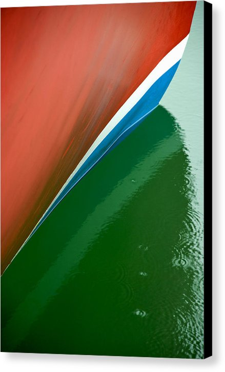 Boot Stripe On Boat - Canvas Print