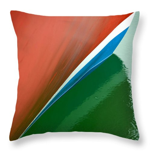 Boot Stripe On Boat - Throw Pillow