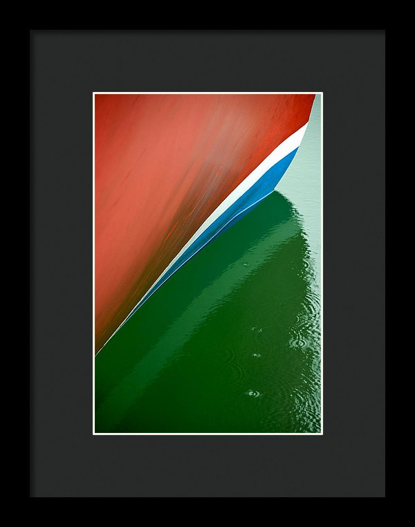 Boot Stripe On Boat - Framed Print