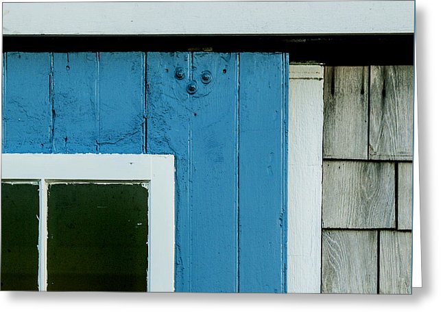 Old Door In Blue - Greeting Card