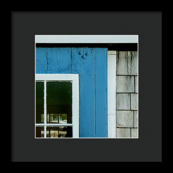 Old Door In Blue - Framed Print