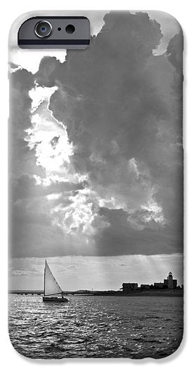 Catboat In Barnstable Harbor - Phone Case