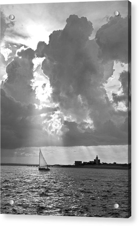 Catboat In Barnstable Harbor - Acrylic Print