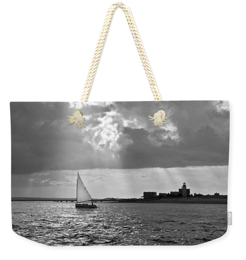 Catboat In Barnstable Harbor - Weekender Tote Bag