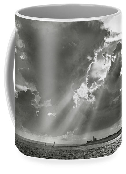 Catboats Sailing In Barnstable Harbor - Mug