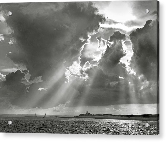 Catboats Sailing In Barnstable Harbor - Acrylic Print