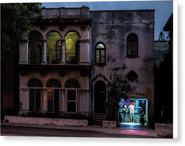 Cell Phone Shop Havana Cuba - Canvas Print