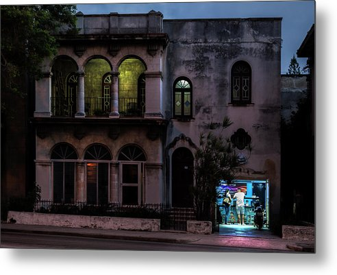 Cell Phone Shop Havana Cuba - Metal Print