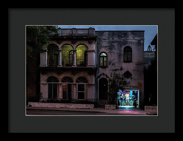 Cell Phone Shop Havana Cuba - Framed Print