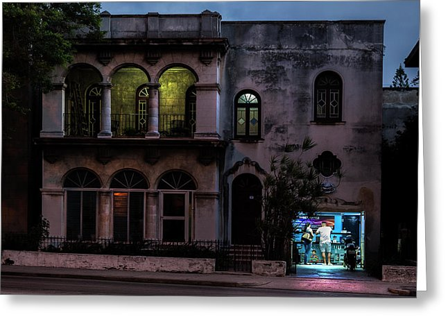 Cell Phone Shop Havana Cuba - Greeting Card