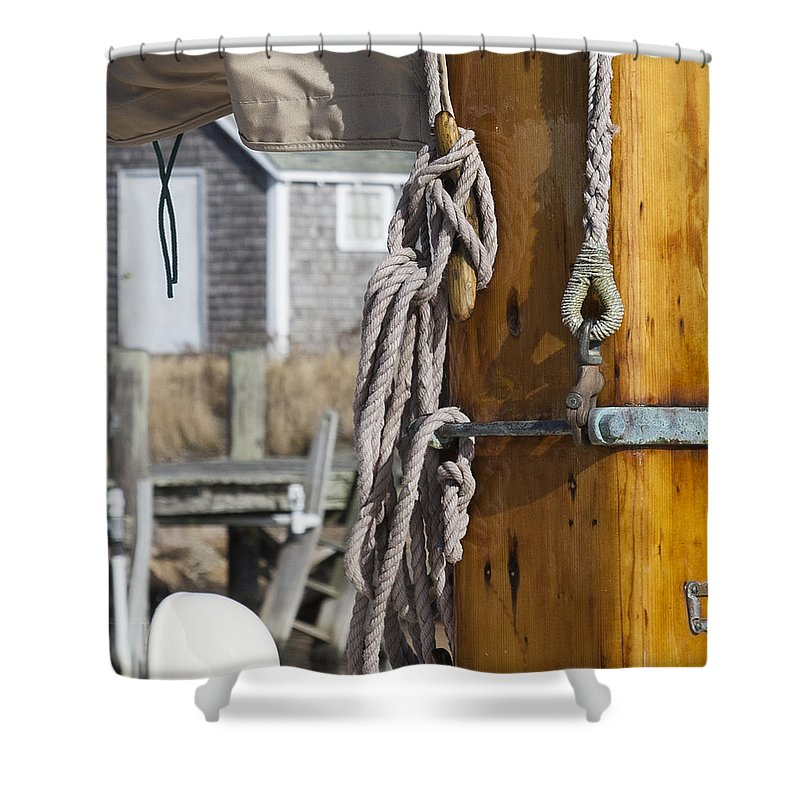 Chatham Old Salt Varnished Mast - Shower Curtain