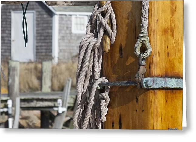 Chatham Old Salt Varnished Mast - Greeting Card