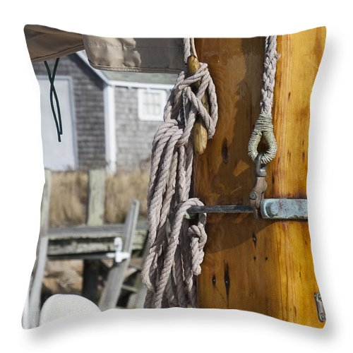 Chatham Old Salt Varnished Mast - Throw Pillow