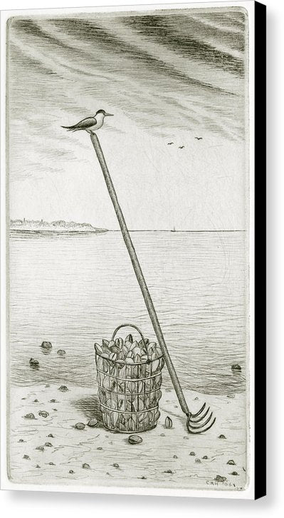 Clamming - Canvas Print