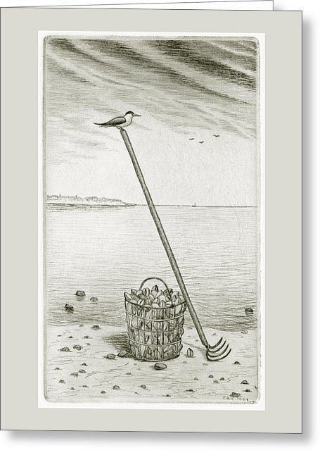 Clamming - Greeting Card