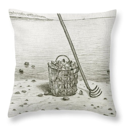 Clamming - Throw Pillow