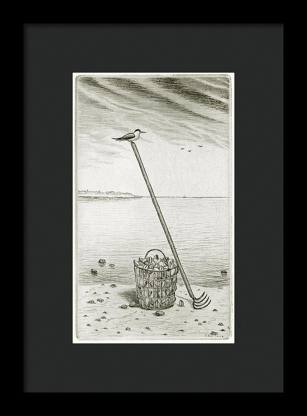 Clamming - Framed Print