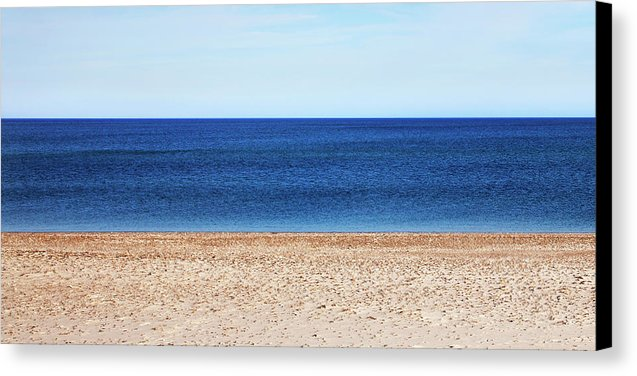Classic Sandy Beach Scene - Canvas Print