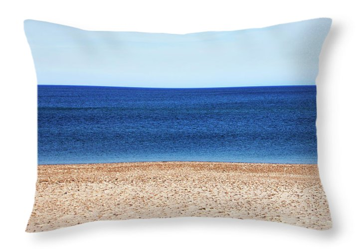 Classic Sandy Beach Scene - Throw Pillow