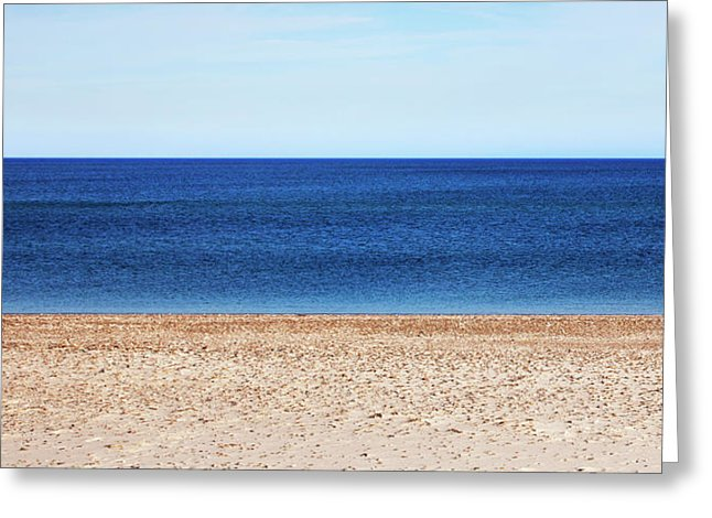 Classic Sandy Beach Scene - Greeting Card