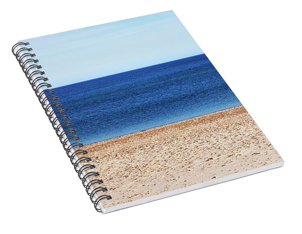 Classic Sandy Beach Scene - Spiral Notebook