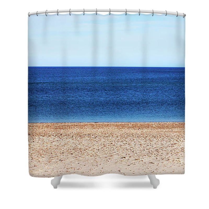 Classic Sandy Beach Scene - Shower Curtain