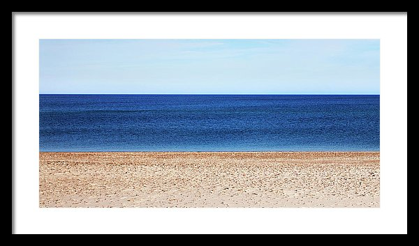 Classic Sandy Beach Scene - Framed Print