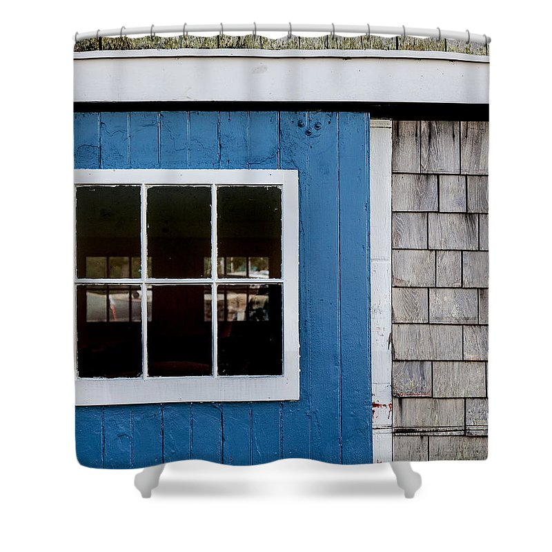 Old Clubhouse Door Composition - Shower Curtain