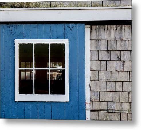 Old Clubhouse Door Composition - Metal Print