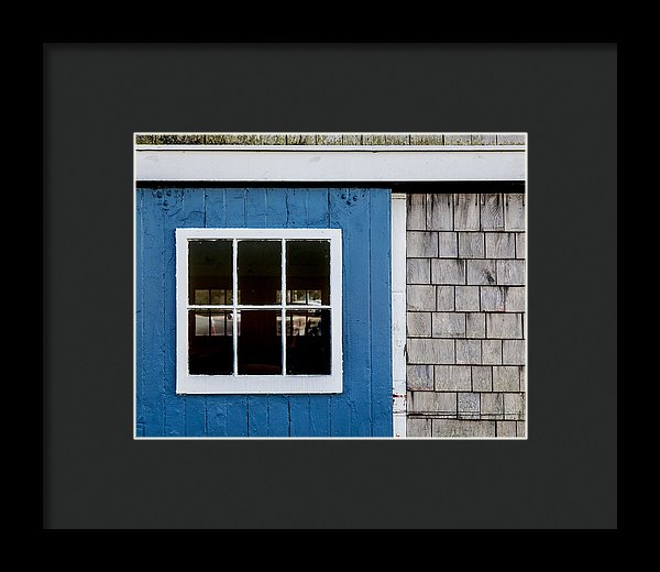 Old Clubhouse Door Composition - Framed Print
