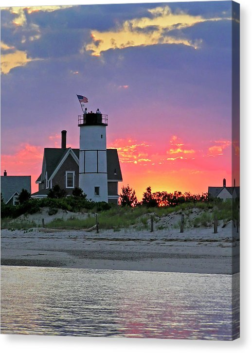 Cocktail Hour At Sandy Neck Lighthouse - Canvas Print