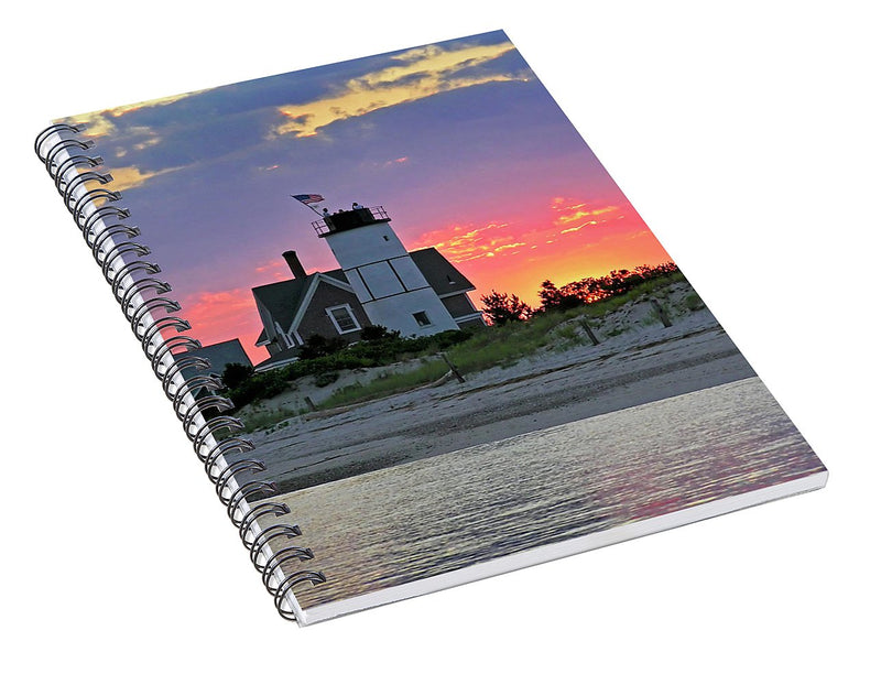 Cocktail Hour At Sandy Neck Lighthouse - Spiral Notebook
