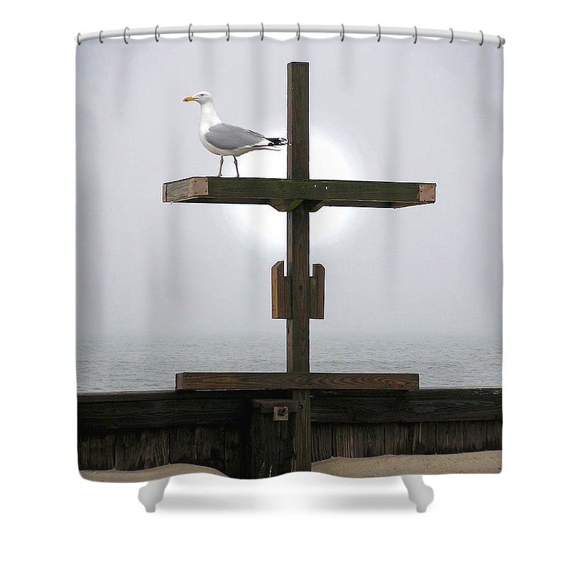 Cross At West Dennis Beach - Shower Curtain